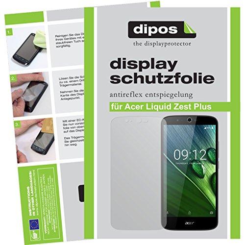dipos I 2X Schutzfolie matt passend für Acer Liquid Zest Plus Folie Bildschirmschutzfolie