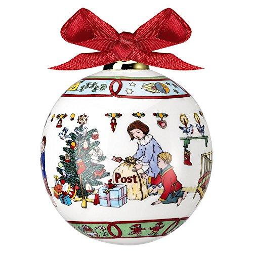 """Hutschenreuther 02252-722976-27940 Porzellankugel 2014 """"Weihnachtspost"""", Durchmesser 6 cm"""