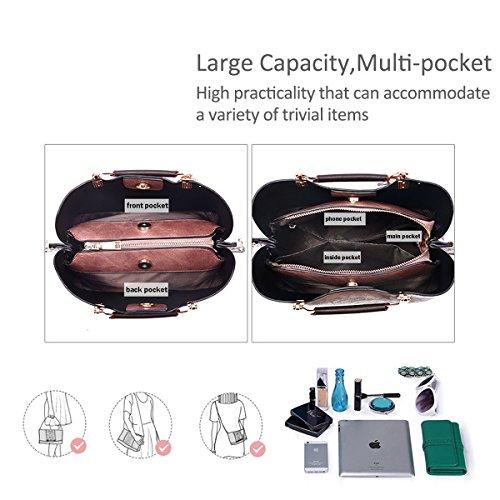 Ruiren Multifunktionshandtasche für Frauen, Messenger Schultertasche Handtasche Portable Schultertasche für Frauen Burgund