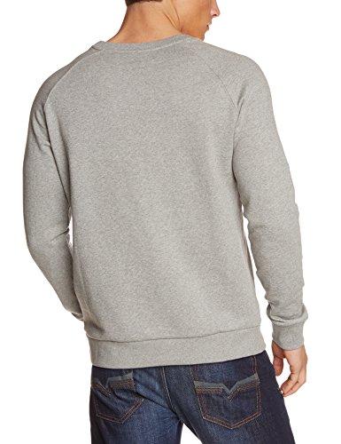 WESC Herren Sweatshirt Collabo Crew Grey Melange