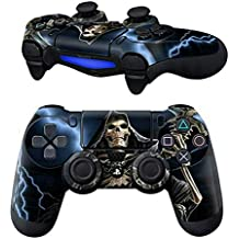 Elton PS4 Controller Designer 3M Skin For Sony PlayStation 4 DualShock Wireless Controller - Hooded Grim Reaper, Skin For One Controller Only