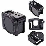 PULUZ Joint Victory Protective Shell Case CNC Aluminum Alloy Housing Cage with Insurance Frame for GoPro Hero New 2018/6/5 Action Camera (Black)