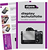 dipos I 6X Schutzfolie klar passend für Sony Alpha 7R III Folie Displayschutzfolie