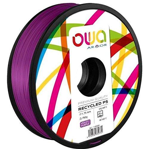 OWA Bobine de Filaments pour imprimante 3D – PS – Violet