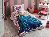 Barbie Bettwäsche Einzelbett Kinderbettwäsche Bettdeckenbezug(160x220cm), Bettwäsche 100% Baumwolle mit Bettbezug, Spannbettlacke(100x200cm) und Kissenbezug(50x70cm) Für Jungs Made in der Türkei