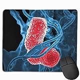 Mauspad Bakterien unter einem Mikroskop Rechteck Rutschfeste Gaming Rubber Mousepad Genähte Kanten Mauspad