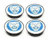 Jaguar Alloy Wheel Centre Caps Badges BLUE / Jaguar XK XK8 XKR XJ XJ8 XJR XJ6 XF X S TYPE Nabendeckel Felgendeckel Nabenkappen Logo Blau 57mm Teilenummer 8W93-1A096