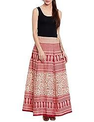 mujeres algodón impreso Rock étnico y Tribu de diseños, color rojo