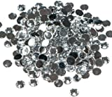 Pack of 1000 x Crystal Flat Back Rhinestone Diamante Gems 5mm