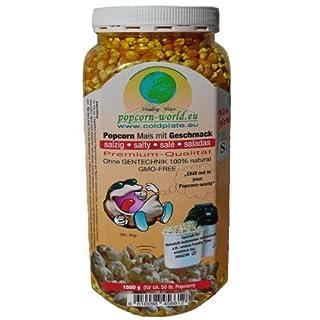 NEU 1450g Premium-Popcorn-Mais. Mit Geschmack SALZIG ohne Gentechnik - Speziell für Heißluftautomaten entwickelt - Zubereitung ohne Fett und Zucker