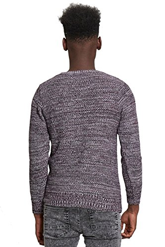 AARHON - Pull - Pull - Manches Longues - Homme Violet
