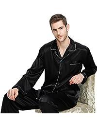 LONXU Herren Seide Schlafanzug Pyjama S --- 4XL