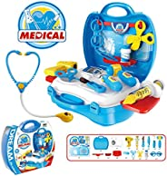 Popsugar - THBPL8355 Little Doctor Set with Stethoscope and Accessories for Kids, Blue