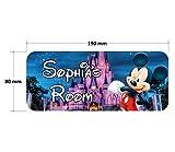 Solo Signs UK Türschild Micky Maus, Disney, Kinderzimmer, personalisierbares Schild, Geschenkidee (SS30033)