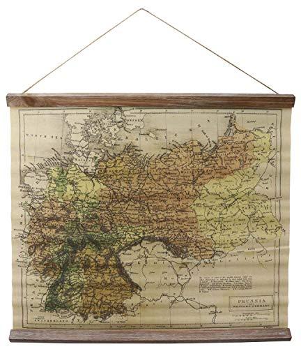 aubaho Preussen West Deutschland Landkarte historische Karte Wandkarte Antik-Stil -
