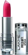 Lakme Enrich Matte Lipstick, Shade PM15, 4.7g