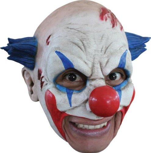 aske Gesicht Maske Over-the-Head-Maske Kostüm Stütze Scary Creepy Schreckliche Maske Latex Maske Clown Maske mit Blaue Haare für Maskerade Make-up Party (Creepy Clown Make Up)
