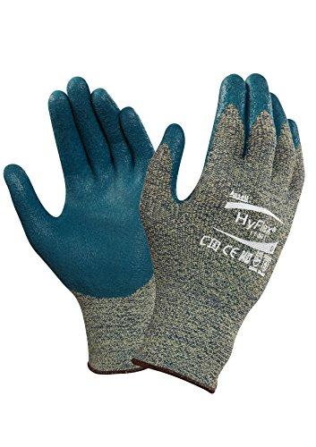 Ansell HyFlex 11-501 Schnittschutz-Handschuhe, Mechanikschutz, Blaue, Größe 7 (12 Paar pro Beutel)