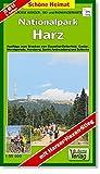 Große Wanderkarte-, Ski- und Radwanderkarte Nationalpark Harz: Ausflüge zum Brocken von Clausthal-Zellerfeld, Goslar, Wernigerode, Herzberg, Sankt Andreasberg und Schierke. 1:35000 (Schöne Heimat) - Verlag Dr. Barthel