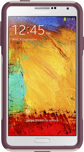 OtterBox Commuter Series Case for Samsung Galaxy Note 3 - Retail Packaging - White/ Purple (Case Otter Box 3 Note)
