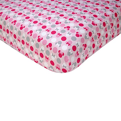 Disney Baby Minnie Mouse Polkadots Crib Bedding (Crib Sheet) by Disney