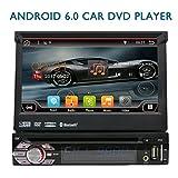 Eincar 2 Go de RAM Android 6.0 Simple Din Car Stereo 1 Din Unité principale Autoradio DVD Lecteur CD intégré WIFI Support en ligne et hors ligne GPS Sat Nav, DAB +, Téléphone Mirroring, Radio FM AM, 64GB SD USB, Bluetooth 4.0, commande au volant, OBD , Cam-In (réglable Angle de visualisation)