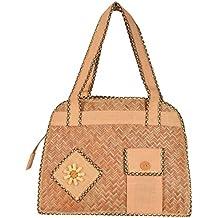 Roy Jute Handicrafts Women's Jute Handbag (Biscuit, RJH 13)