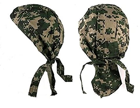 Bandana camouflage camo digital arméee us usa serre tete homme femme biker moto paintball airsoft chasse peche