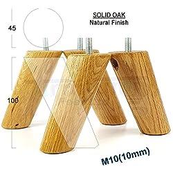 4x patas de muebles pies de madera maciza muebles de repuesto para sofás, sillas, rincón, gabinetes–M10(10mm) cwc815z