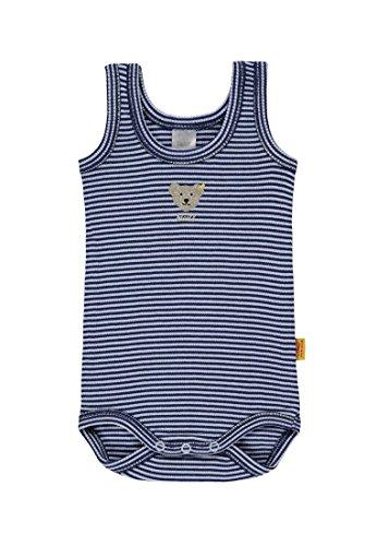 Steiff Baby-Jungen Body o. Arm 6715021, Blau (Baby Blue 3023), 92
