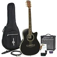 Guitare Électro-Acoustique Roundback + Pack Ampli 15 W Black