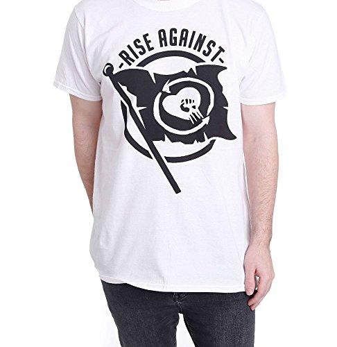 Rise Against Flag White - T-Shirt-XX-Large -