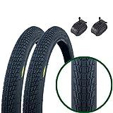 Paar Fincci Reifen für BMX oder Kinder Fahrrad 20 x 1,75 47-406 und Autoventil Schläuche 48mm