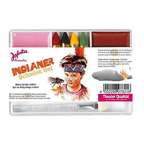 Jofrika Schminkset, für Karneval, Verschiedene Themen Schminkstifte inkl. Aplikator, und Abschminke...