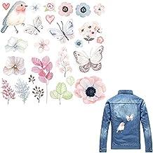 QUICKLYLY Parches Ropa Termoadhesivos Decorativos,Apliques de Costura Sew Hierro En Parche Bordado Insignia de
