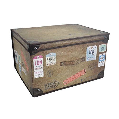 Preisvergleich Produktbild Große, faltbare Jumbo-Aufbewahrungsbox, für Kinderzimmer, Spielzeugbox Vintage