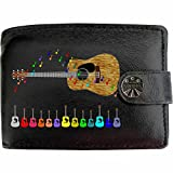 Best Personalized Gifts Dad Money Clips - Acoustic Guitar Wallet Soft Leather Music Printed Picture Review