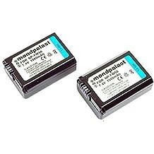 2 x NP-FW50 NPFW50 Sostituzione Batteria 1500mah per Sony NEX-5 NEX-5R NEX-5N NEX-3 NEX-3N NEX-7 NEX-C3 DLSR A33 DLSR A55 Alpha A7 A7r RX10 RX-10