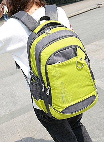 Keshi Leinwand Cool Schulrucksäcke/Rucksack Damen/Mädchen Vintage Schule Rucksäcke mit Moderner Streifen für Teens Jungen Studenten Gelb