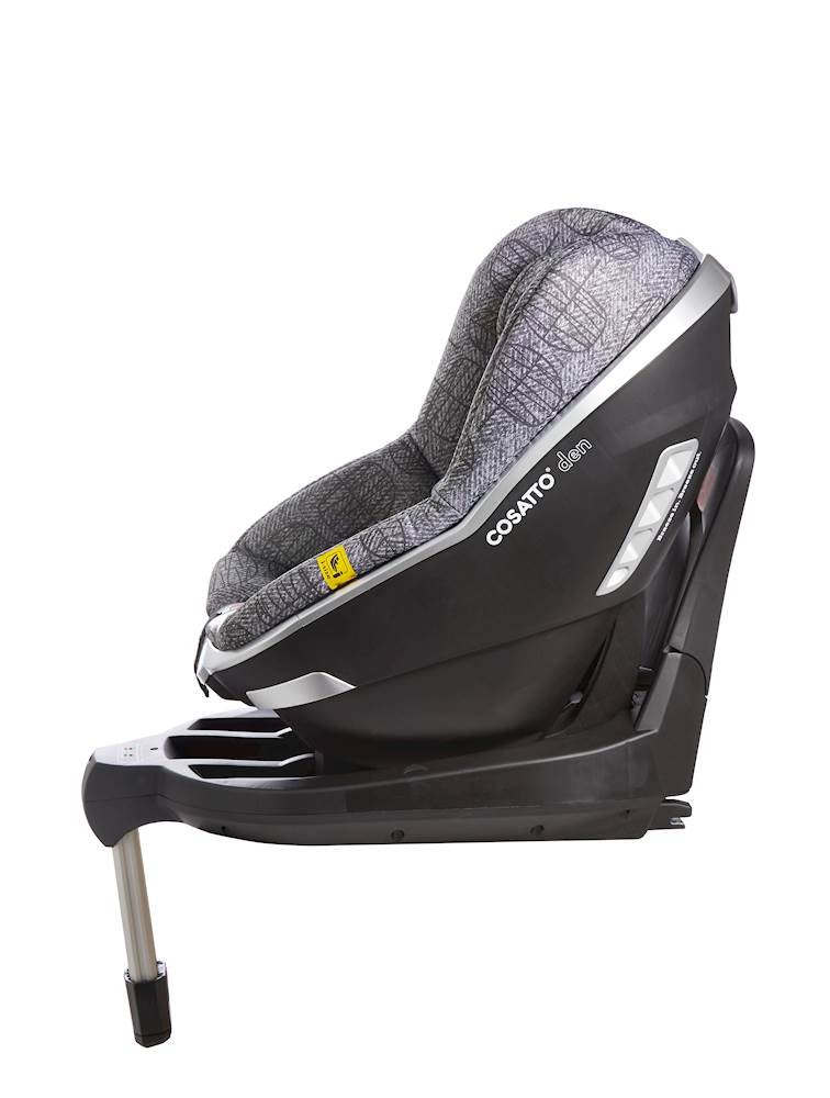 Cosatto Den i-Size Car Seat, Dawn Chorus, Birth to 18 kg Cosatto Rearward facing from birth to 15 months (83 cm child height) for extended protection; then forward facing from 71 cm child height up to 95 cm (approximately 3 years) Den has a built in electronic safe-fitting warning system, with a light and sound feature to prevent incorrect seat fitting One-handed simultaneous harness and headrest adjuster, allows to for easy adjustments without needing to rethread the harness in order to adjust the headrest 4