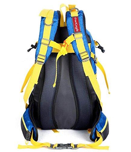 Yueer 40L Impermeabile All'aperto Ricreazione Sport Viaggi Ultraleggeri Escursioni A Piedi Spalle Zaino,E F