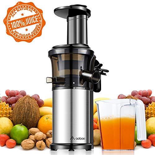 Aobosi Slow Juicer Licuadora para Fruta y Verdura de Prensado en Frio Extractor de Jugos para Fruta...