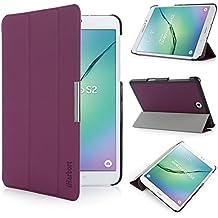 iHarbort® Samsung Galaxy Tab S2 8.0 Funda - ultra delgado ligero Funda de piel de cuerpo entero para Samsung Galaxy Tab S2 8.0 T710 , con la función del sueño / despierta, púrpura