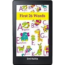 First 26 Words: Kids ABCD: Learn Easy Alphabet for Kindergarten