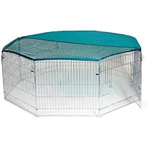 extra großes XL 55x55 Freilaufgehege Auslaufstall für Hasen, Kaninchen etc inkl. kostenlosen Sicherheitsnetz BUNNY BUSINESS WP-004M