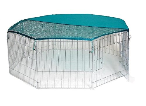 Bunny Business 8-Panel Playpen with Free Safety Net, 55 x 55-inch, Extra Large Test