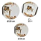 Idea cucina: Set 18 piatti decorati in melamina per campeggio roulotte camper caravan mare giardino