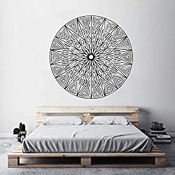 40 Colores Vinilo Etiqueta de la Pared Mural Mandala Ornamento Removeable Tatuajes de Pared Dormitorio Salón decoración de la Pared Art Poster 57 * 57 cm