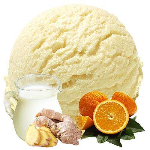 Buttermilch Orange-Ingwer Geschmack 1 Kg Gino Gelati Eispulver Softeispulver für Ihre Eismaschine
