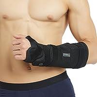 Neotech Care Wrist and Forearm Splint Brace - Adjustable - Arm Cast - Black color - Size S, M, L, XL or XXL - Package of 1 unit
